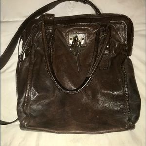All Saints Dark Brown Leather Satchel. Like New!